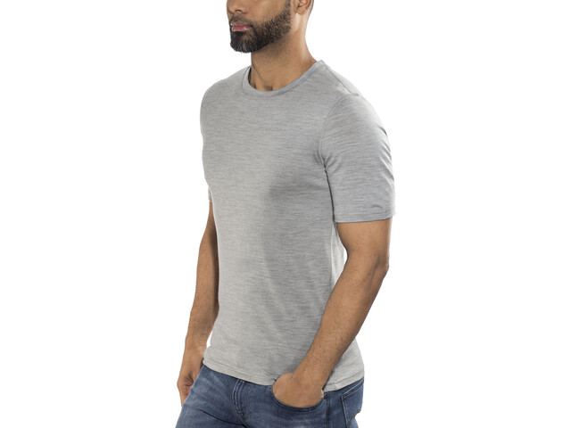 Odlo Natural 100% Merino Warm Crew Neck SS Shirt Men grey melange-black